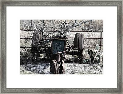 Retired Framed Print by Kelly Kitchens