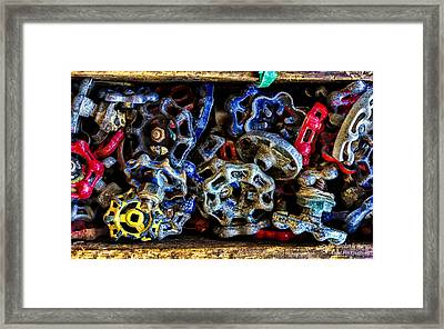 Retired Knobs Framed Print by Christopher Holmes