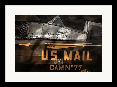 Us Postal Service Digital Art Framed Prints