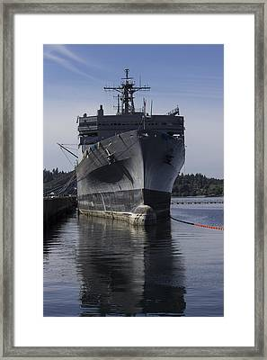 Retired Navy Ship Framed Print