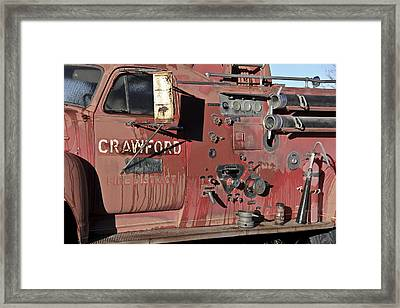 Retired Red Framed Print