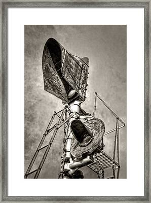 Retired Signals Framed Print by Ken Smith
