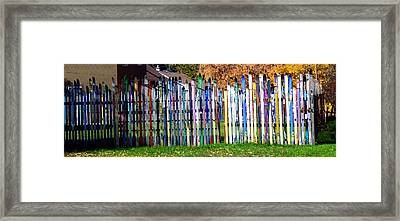 Framed Print featuring the photograph Retired Skis  by Jackie Carpenter