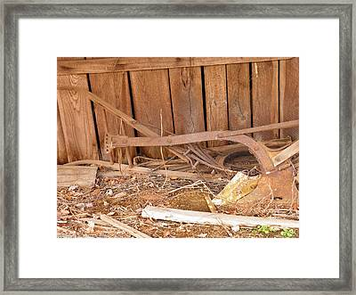 Framed Print featuring the photograph Retired Tools by Nick Kirby