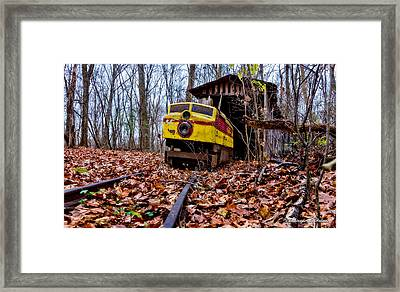 Retired Train Ride Framed Print by Christopher Holmes