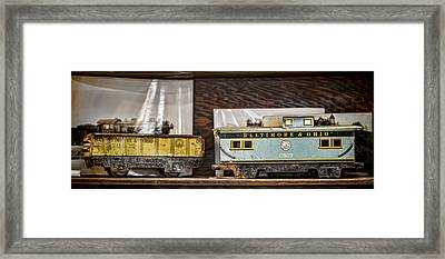 Retired Trains Framed Print by Heather Applegate