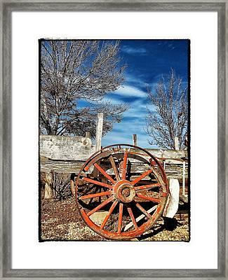 Retirement Blues - U S 395 California Framed Print