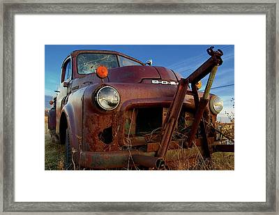 Framed Print featuring the photograph Retirement Has Not Been Good by Chuck De La Rosa