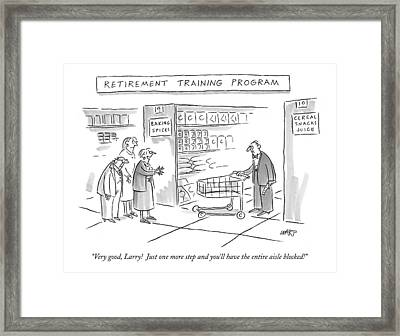 'retirement Training Program' Very Good Framed Print by Kim Warp