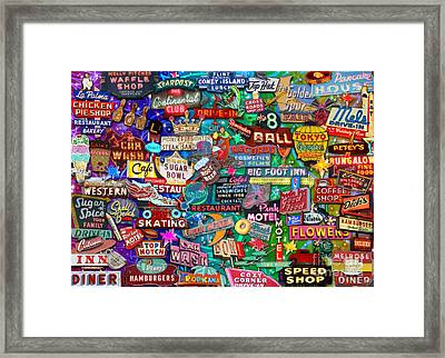 Reto Neon Dream Framed Print by Aimee Stewart