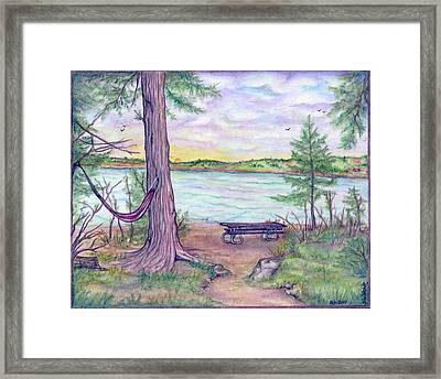 Retreat By The Lake Framed Print by Jan Wendt
