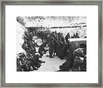 Retreat From Chosin Reservoir Framed Print by Underwood Archives