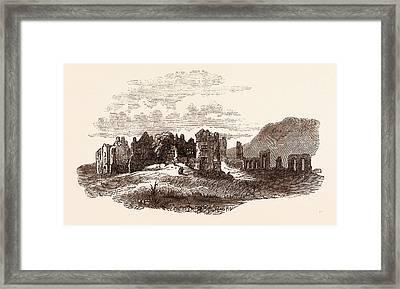 Retreat Of Edward II  To Neath Abbey, A Cistercian Monastery Framed Print by English School
