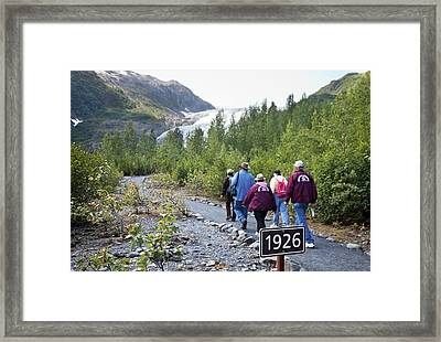 Retreat Of Exit Glacier Framed Print