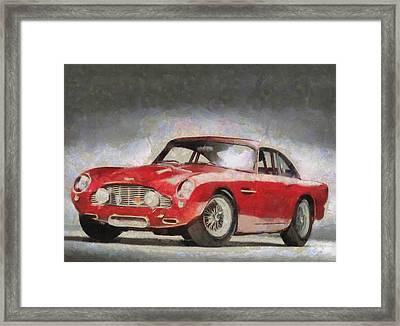 Retro Aston Martin Db5 1963-1965 Framed Print