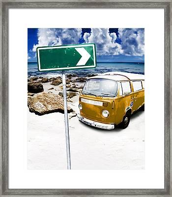 Retro Beach Van Framed Print