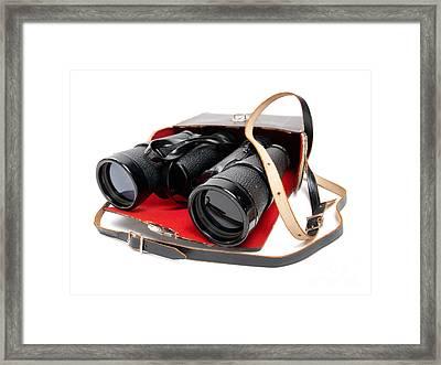 Retro Binoculars Framed Print