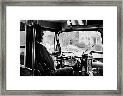 Retro Bus Driver Framed Print