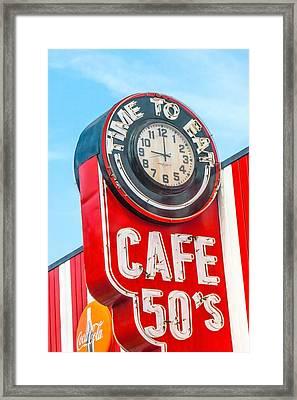 Retro Cafe Framed Print