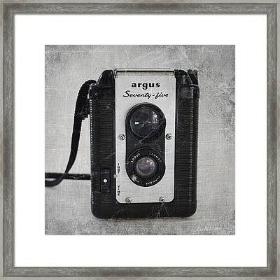 Retro Camera Framed Print by Linda Woods