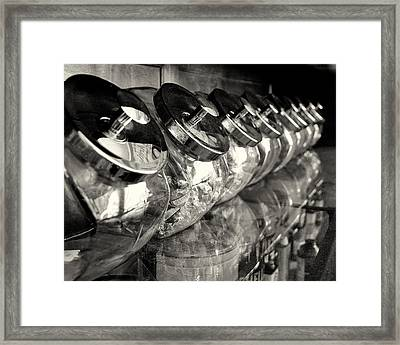 Retro Candy Jars Framed Print by Dick Wood