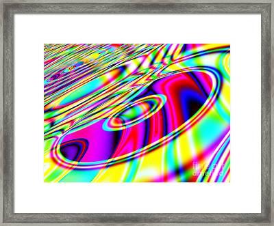 Retro Cd Or Dvd Background - Version 1 Framed Print by Shazam Images