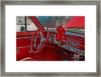 Retro Chevy Car Interior Art Prints Framed Print