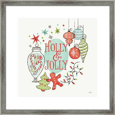 Retro Christmas Iv Framed Print