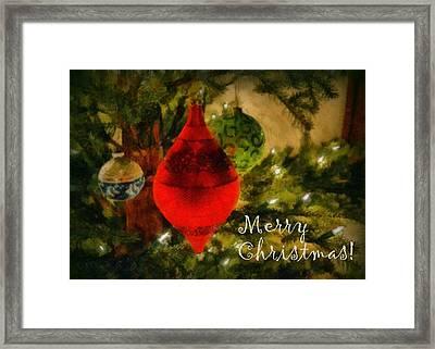 Retro Christmas Framed Print by Michelle Calkins