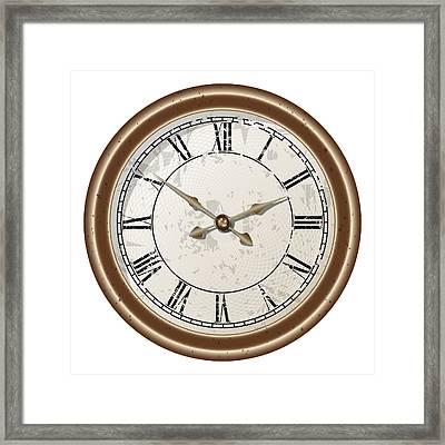 Retro Clock Framed Print by Volodymyr Horbovyy