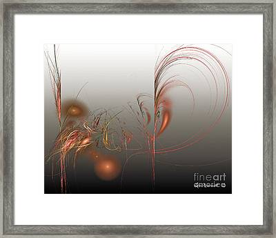 Retro Colligraphy Framed Print by Leona Arsenault