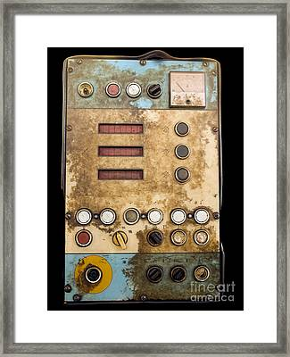 Retro Control Panel Framed Print