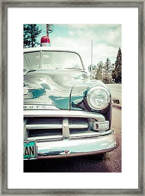 Retro Cop Framed Print by Takeshi Okada