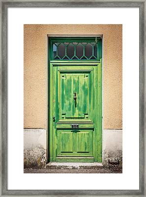 Retro Door Framed Print by Georgia Fowler