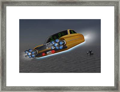 Retro Flying Object 1 Framed Print