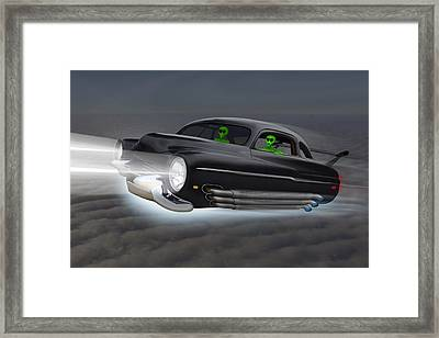 Retro Flying Objects 2 Framed Print