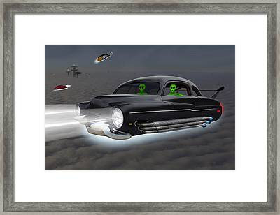 Retro Flying Objects 4 Framed Print