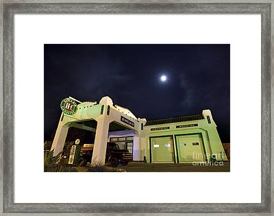 Retro Gas Station Framed Print by Keith Kapple