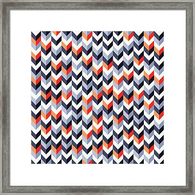 Retro Geometric Framed Print by Mike Taylor