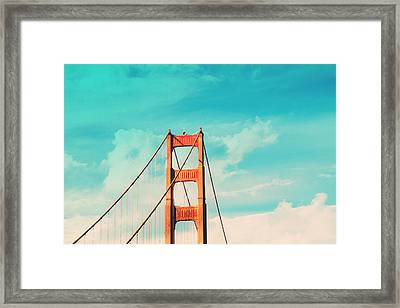 Retro Golden Gate - San Francisco Framed Print by Melanie Alexandra Price
