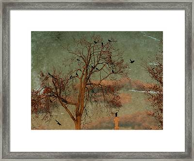 Retro Gothic Sky Framed Print by Gothicrow Images