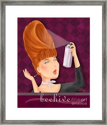 Retro Hairdos-beehive Framed Print by Shari Warren