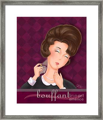 Retro Hairdos-bouffant Framed Print