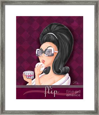 Retro Hairdos-flip Framed Print