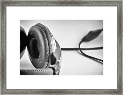 Retro Headphones Framed Print