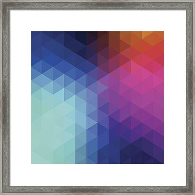 Retro Hexagon Abstract Background Framed Print by Mustafahacalaki