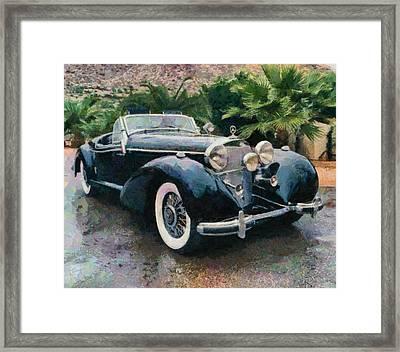 Retro Mercedes Framed Print by Georgi Dimitrov