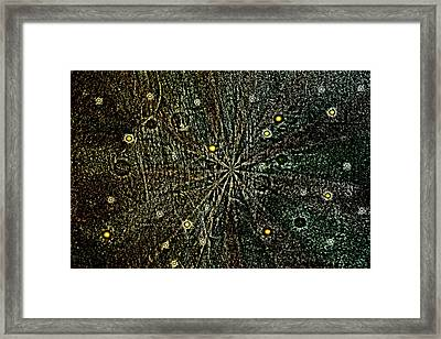 Retro Planets Framed Print by Steve Ball