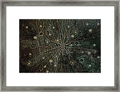 Retro Planets Framed Print by Steve Ball