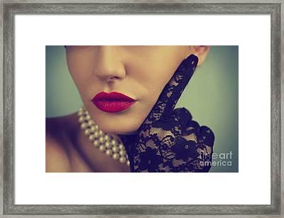 Retro Portrait Framed Print by Jelena Jovanovic